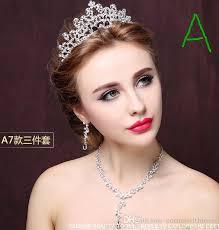 bridal crowns headdress crown necklace three bridal crowns bridal
