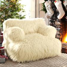 furry bean bag chair idea fur dark gray uk u2013 naohiga
