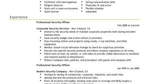 security officer resumes lukex co