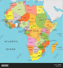 Angola Africa Map by Political Map Of Africa Stock Vector U0026 Stock Photos Bigstock