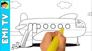 peppa pig family plane coloring book coloring pages kids fun art