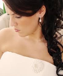 bridesmaid pearl earrings classic bridal pearl drop earrings cubic zirconia rhodium plate