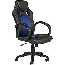 light blue desk chair homall gaming chair executive swivel office chair