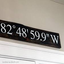 Menards Address Plaques by Home Coordinates Latitude U0026 Longitude Sign Beckham Belle