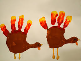 little hiccups thanksgiving handprints