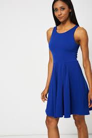blue scuba skater dress affordable fashion women u0027s clothing