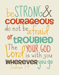 joshua 1 9 scripture graduates strong courageous