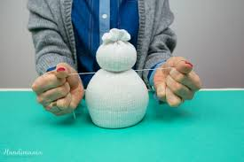 how to make no sew sock snowman all steps diy u0026 crafts