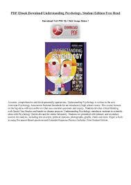 pdf ebook download understanding psychology student edition free read