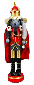 orn004 m 6 inch nutcracker ballet ornaments set of 4 mouse king