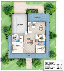 2 bed house plan with wraparound porch 86009bw architectural