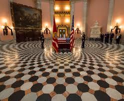 Ohios State Flag John Glenn In Repose At Ohio State House Nasa