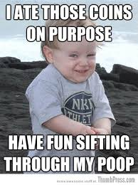 Baby Poop Meme - evil plotting baby reminds you of why babies are hard to deal with