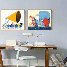 Bedroom Wall Hanging Painting Online Get Cheap Chicken Wall Painting Aliexpress Com Alibaba Group