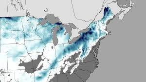 Snow Depth Map New England by Noaa Environmental Visualization Laboratory Snow Blankets The