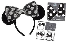 interchangeable bow minnie mouse ears coming disney parks