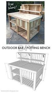 Free Wooden Potting Bench Plans by Potting Bench Plans With Sink Potting Bench Pinterest Bench