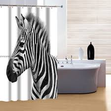 Zebra Shower Curtain by Zebra Shower Curtain Set Part 32 Creditrestore Us Home