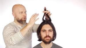 mens tidal wave hair cut men s medium length haircut tutorial thesalonguy youtube