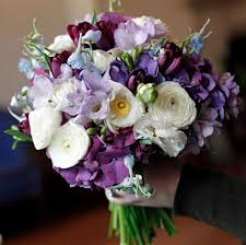 purple and white wedding summer wedding bouquet with purple and white flowers ipunya