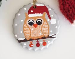 owl christmas owl christmas decor etsy