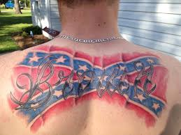 last name but with the flag tattood i m the back