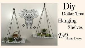 Zen Home by Dollar Tree Diy Hanging Shelves 3 Zen Home Decor Youtube