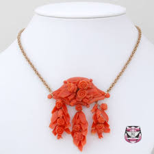coral necklace antique images Antique jewelry antique necklaces victorian carved coral necklace jpg