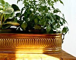 brass flower pot etsy