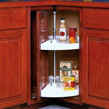 Lazy Susan For Corner Kitchen Cabinet Corner Kitchen Cabinet Lazy Susans Organize It