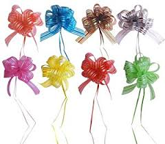 pull ribbon set of 8 pull bows with 35 ribbon