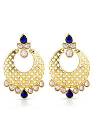 studded earrings studded earring in royal blue and golden jbm2676