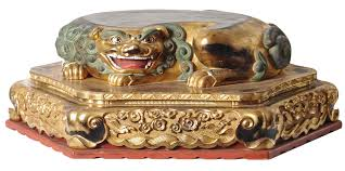 shishi statue japanese edo period buddhist shinto foo fo fu shi shi shishi