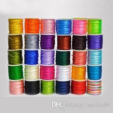 rattail cord 2017 1mm rattail satin cord knot beading cord x80yds