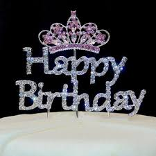 rhinestone cake toppers happy birthday rhinestone cake topper tiara design cake decoration