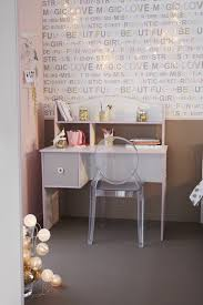 bureau enfant fille bureau enfant contemporain pin et gris aquarelle
