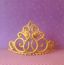 crown cake toppers princess crown tiara cake topper tiara topper by lulucupcakecom