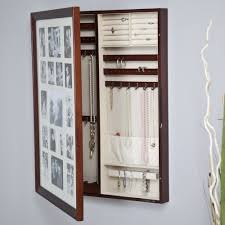 A Key To The Armoire Collage Photo Frame Wooden Wall Locking Jewelry Armoire 23w X