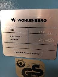wohlenberg used machine for sale