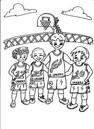 lakers coloring pages basketball coloring pages for free