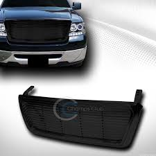abs light on ford f150 black horizontal billet front hood bumper grill grille cover abs 04