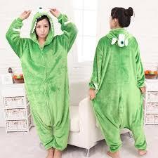 Sulley Womens Halloween Costume Monsters University Mike Wazowski Sulley Onesies Pajamas