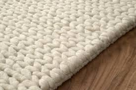 Chunky Wool Rug Nuloom Hand Woven Chunky Woolen Cable Rug In White Beyond Stores