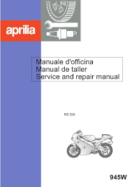 aprilia rs250 service repair workshop manual rgv 250 nice quality