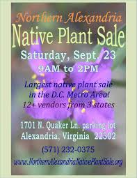 native plant sale northern alexandria native plant sale