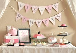 lil baby shower girl pumpkin baby shower party ideas