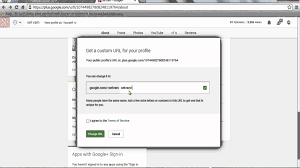 Google Plus Page Vanity Url How To Change Your Google Plus Url Youtube