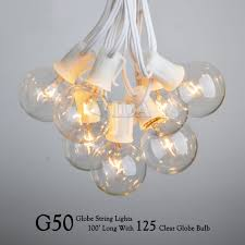 Outdoor Patio String Lights Globe by 48 Ft Outdoor String Light Incandescent Bulb Set Patio Deck