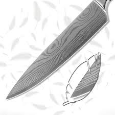 kitchenware 8 inch chef kitchen knife 7cr17 stainless steel