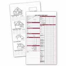 Siding Estimate Template by Business Forms Vinyl Siding Work Sheet 257 By Deluxe
